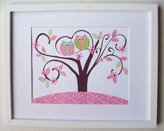 Baby Girl Nursery Decor Children's Art Decor Kids by vtdesigns, $14.00