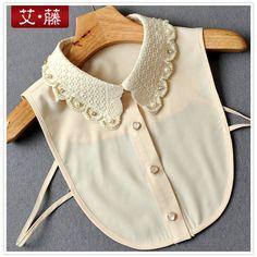 Вышивка на воротнике рубашки бисером