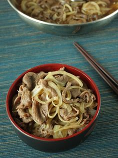 Pasta Recipes : Gyudon – Japanese Beef Bowl