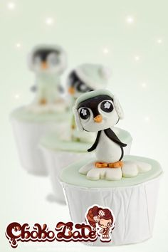 Christmas Pinguin cupcake topper