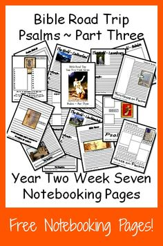 {Free Printable Notebook Pages} Bible Road Trip ~ Year Two Week Seven Homeschool High School, Homeschool Curriculum, Bible Lessons, Lessons For Kids, Christian Devotions, Home Schooling, Bible Studies, Learning Activities, Sunday School