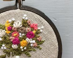 Farmers Market Bouquet No 11 Floral Embroidery Hand