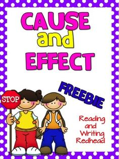Updated cover and easier to read font on this FREEBIE - same content ... Freebie: Cause and Effect Skill Practice Page