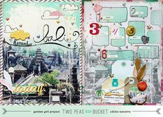 This Snippets Speech Bubbles Template (by Studio Calico) would be great for journaling my Golden Triangle Trip.   This would be great for 213 in 2013 - Remember Bali - Two Peas in a Bucket - Two Peas in a Bucket