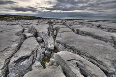 "The Burren, West coast of Ireland  ....from the Gaelic word boirrean, which means ""a rocky place."""
