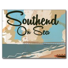 southend on sea vintage poster