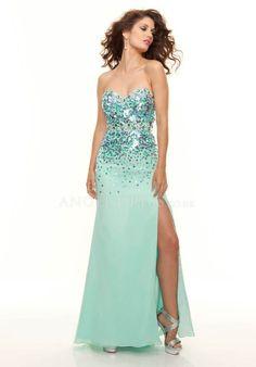 Sheath/ Column Sleeveless Chiffon Natural Waist Sweetheart Prom Dress