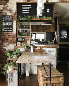 Artwork For Home Decoration Cozy Coffee Shop, Small Coffee Shop, Coffee Shop Design, Cafe Design, Deco Restaurant, Rustic Restaurant, Restaurant Design, Ikea Kitchen Design, Kitchen Decor