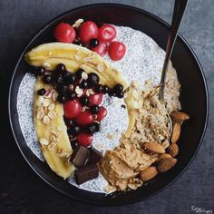 "letscookvegan:  "" Vanilla oats topped with coconut chia pudding by @eatwithfingers   Recipe:  Ingredients for vanilla oats  - 5 tbsp oats  - 2 tbsp oat flour  - 1 cup oat-milk - ½ cup water  - 1 tbsp vanilla essence  - 1 tbsp flaxseeds  - Pinch of cinnamon..."