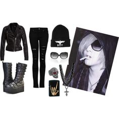 """theGazette-Ruki casual look"" by chr1stine on Polyvore"
