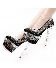 2013 Fashion Nightclubs Super Shiny Stitching Rivets High Heel Shoes