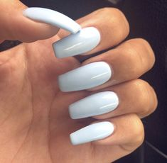 long baby blue acrylic nails light blue