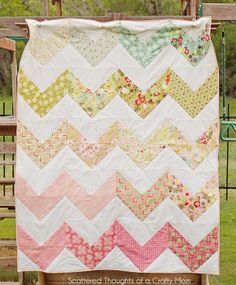 Pretty Chevron Quilt (She is giving it away!  You can enter for a chance to win @ Scattered Thoughts of a Crafty Mom- Giveaway ends 5/10/13)