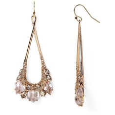 Alexis Bittar Miss Havisham Marquis Cluster Teardrop Earrings ($240) ❤ liked on Polyvore