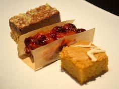 Dessert Trio: Chocolate-Hazelnut Bars, Cranberry-Apricot Bars, and ...