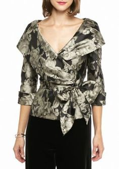 Evening Blouses, Evening Shawls, Evening Tops, Vestidos Marisa, Suit Fashion, Fashion Dresses, Winter Wedding Outfits, Alex Evenings, Skirt Outfits