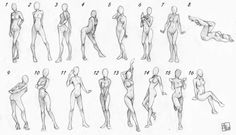 Having trouble drawing female bodies? Take a look at these.