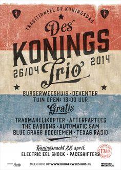 Des Konings Trio 2014 by Peter Kortleve, via Behance