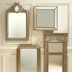 Beaded Beveled Mirror