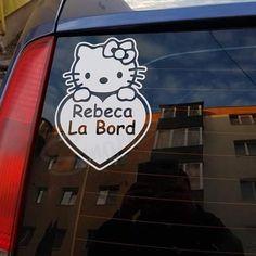 Alege stickerul auto Kitty Baby on Board  pentru decorarea masinii tale si aranjeaza-le intr-un mod creativ. Masina ta va iesi in evidenta in trafic. Aplicarea pe masina se realizeaza cu usurinta, nefiind necesara o experienta anterioara. Culoarea, marimea si textul stickerului o alegi tu si o pozitionezi oriunde a masinii. #stickerauto #stickerbabyonboard #stickerpisica #babyonboard #bebelabord #stickerautopisica #autocolantauto #stickerpersonalizat #stickermasina #babyincar Sticker Auto, Decals, Snoopy, Kitty, Stickers, Baby, Fictional Characters, Little Kitty, Tags