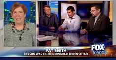 "Pat Smith appeared on Fox News and got the chance to speak - for the very first time - to the security personnel who defied ""stand down"" orders and tried to save her son.  It's Time For The Truth To Be Told About Benghazi! http://us8.campaign-archive2.com/?u=bbf02ce69b92dd5b8b543a078&id=0580f107b2"