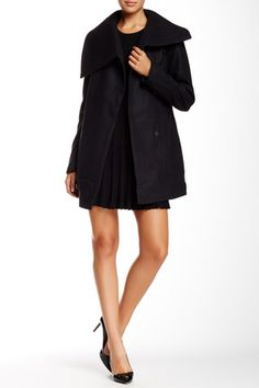 Kit Asymmetrical Wool Blend Coat