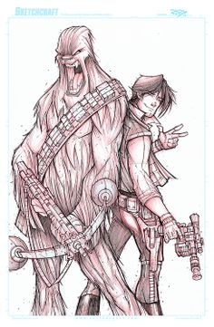 STAR WARS HAN AND CHEWIE - Rob Duenas