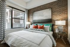 Exposed brick at Gables McKinney Ave in Dallas
