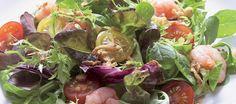 Garnalensalade met jong bietenblad salademostard dillen DEF