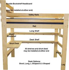 Loft Bed Order Form for Youth Children Kids Tween Teen College Students Adults Made in USA