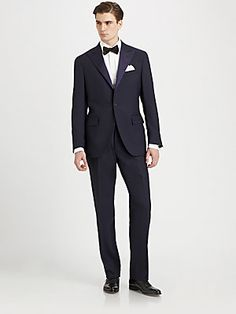 Polo Ralph Lauren Wool Peaked-Lapel Tuxedo - great lapel awful color