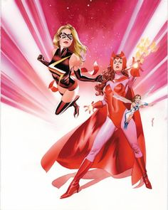 Scarlet Witch, Ms Marvel & Wasp by Mike Mayhew Comic Book Heroines, Comic Book Characters, Marvel Characters, Comic Character, Comic Books Art, Epic Characters, Marvel Comics, Arte Dc Comics, Marvel Art
