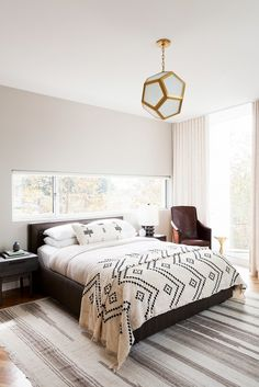 The bed frame, side tables, and bedding!! ~~ Modern Bedroom Design by DISC Interiors