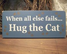 For cat lovers. Read the sign.