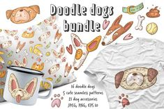 Doodle dogs collection by An_Kle on @creativemarket