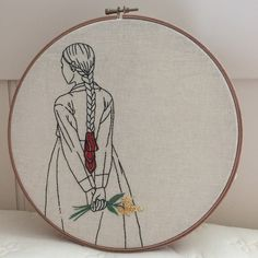 This first hoop is uniquely beautiful in its simplicity. Equally appealing is the placement of the subject in the hoop. Placing it off center to the left creates visual interest. Olive's precise stitches are phenomenal!