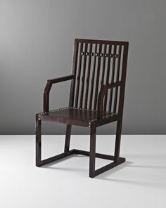 View Rare armchair by Josef Hoffmann sold at Design: Vienna and the Wiener Werkstätte on 3 March 2011 New York. Furniture Dining Table, Table And Chairs, Dining Tables, Vintage Furniture Design, Modern Furniture, Joseph Hoffman, Art Nouveau, Vienna Secession, Love Chair