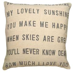 Sugarboo Designs You Are My Sunshine Pillow