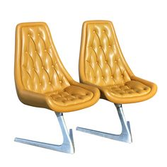 # Kagan Style Chromcraft Unicorn Chair V-Shaped Base$1995