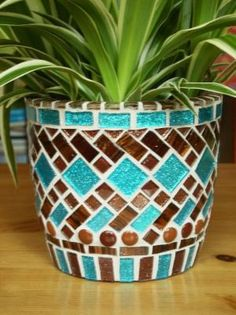 mosaic planter by patsy