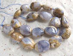 Eggshell Chalcedony 16x20mm Nugget Beads