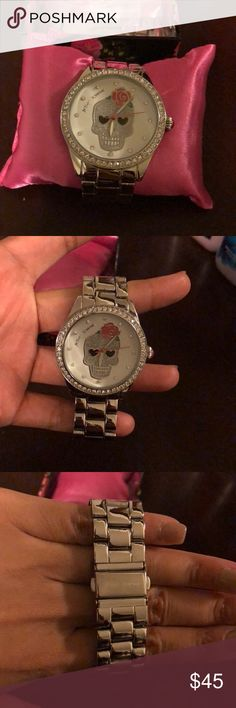 Betsey Johnson Watch Betsey Johnson wrist watch with a skull head on frame Betsey Johnson Accessories Watches