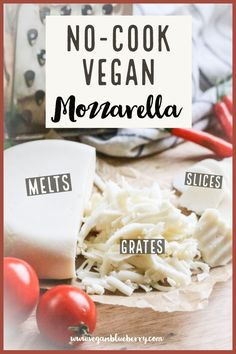 Vegan Mozzarella that you can make with a few simple ingredients in your BLENDER! Must TRY! #vegancheese #veganmozzarella #easyvegan
