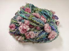 Waterlilies Handspun Art Yarn Flower Yarn 54 yards by Autumnrose