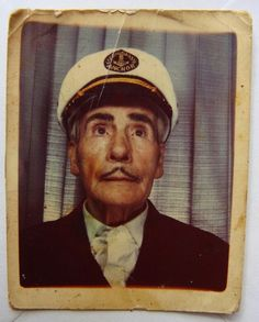 +~ Vintage Photo Booth Picture ~+  Mr. Cruise Director - oh so dapper!