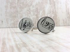 Your place to buy and sell all things handmade Wedding Cufflinks, Groom Cufflinks, Treble Clef, Clear Resin, Black Box, Glass Domes, Music Lovers, Uk Shop, Sheet Music