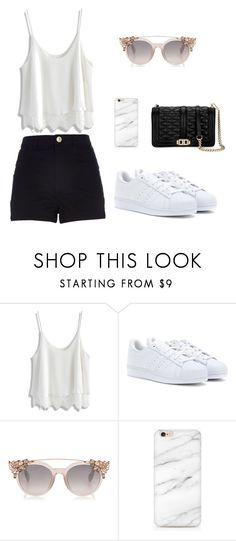 """""""Set 8"""" by silvada-comi ❤ liked on Polyvore featuring River Island, Chicwish, adidas, Rebecca Minkoff, men's fashion and menswear"""