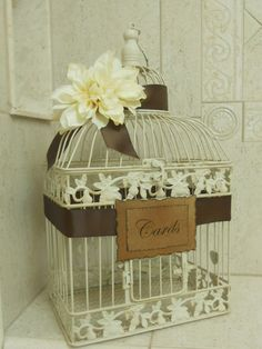 wedding birdcage card holder romantic rustic vintage style i like this idea for cards instead
