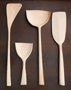 Love the organic shape of these wooden spoons