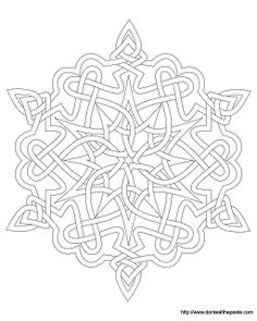 snowflake mandala to color- available in png and jpg format ... - Mandala Snowflakes Coloring Pages